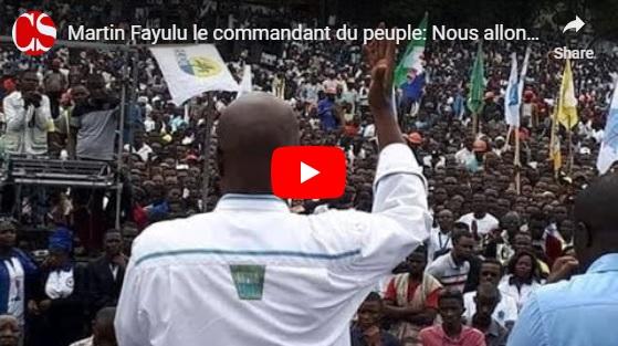 Martin Fayulu le commandant du peuple: Nous allons nous battre jusqu'au bout