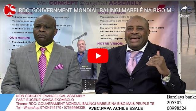 RDC: GOUVERNMENT MONDIAL BALINGI MABELÉ NA BISO MAIS PEUPLE TE