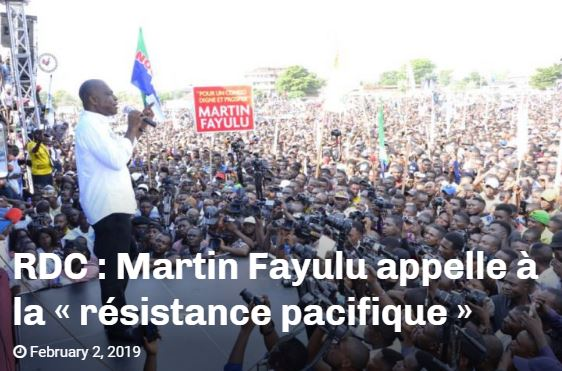 MARTIN FAYULU EN DIRECT DE MEETING