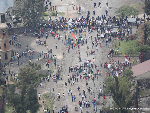 Goma:Manifestations contre le meurtre de 6 personnes;trafic routier paralysé.