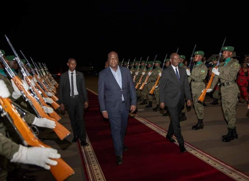 Félix Tshisekedi à Kigali pour un forum économique.