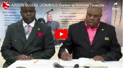 APOTRE EUGENE EKOMBOLO: Control ya Systeme Financier MondialNa RDC avec Papa Achille Esale.
