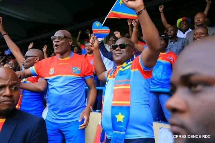 CAN 2019 :Le Pdt Tshisekedi se rend au stade:Bakambu buteur, les Léopards qualifiés