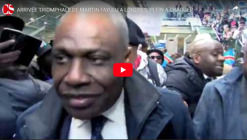 ARRIVÉE TRIOMPHALE DE MARTIN FAYULU A LONDRES, PLEIN A CRAQUER.