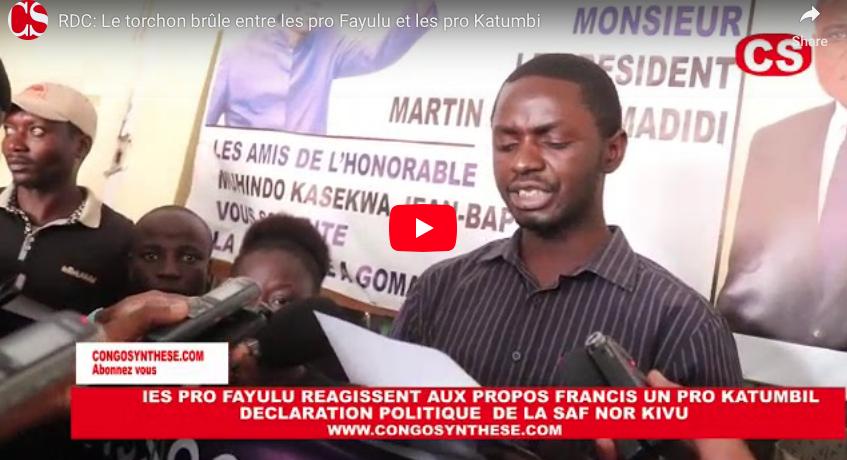 RDC: Le torchon brûle entre les pro Fayulu et les pro Katumbi.