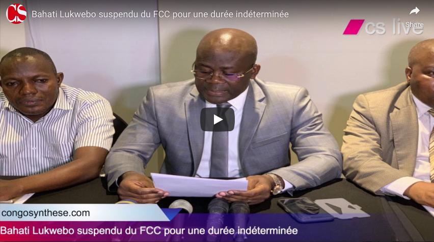 Bahati Lukwebo suspendu du FCC pour une durée indéterminée