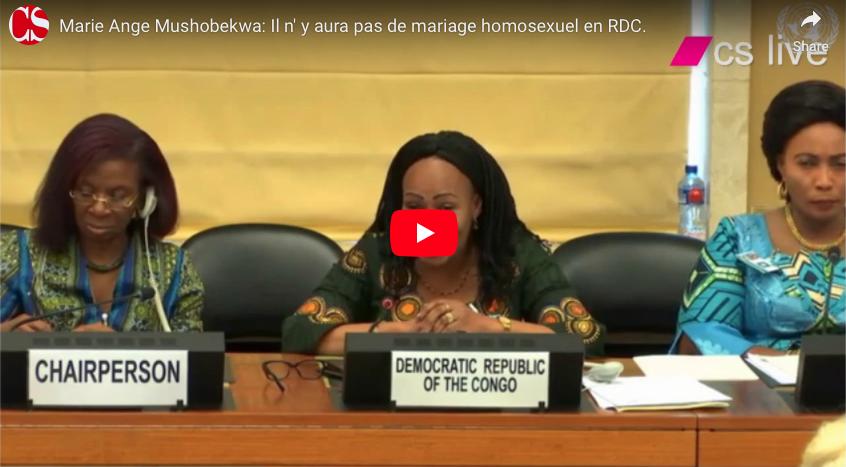 Marie Ange Mushobekwa: Il n' y aura pas de mariage homosexuel en RDC.