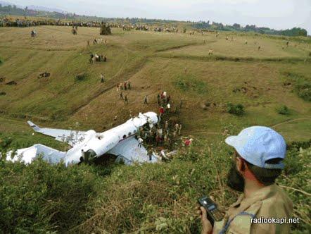Nord-Kivu : Aucun survivant dans le crash d'un avion à Goma.