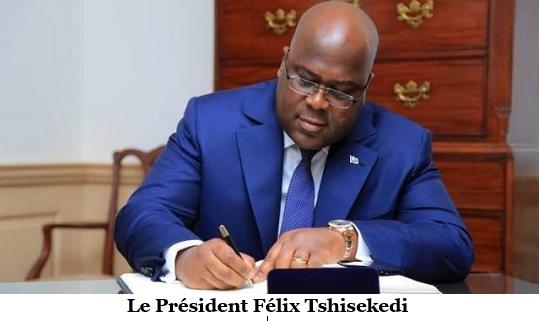 Le Président Félix Tshisekedi crée trois nouveaux établissements publics rattachés à la Présidence.
