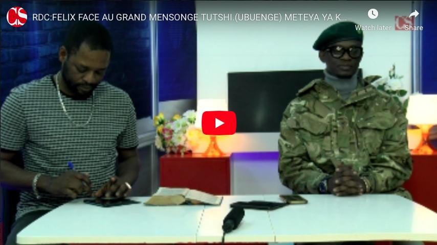 RDC:FELIX FACE AU GRAND MENSONGE TUTSHI.(UBUENGE) METEYA YA KUKU PEMBA