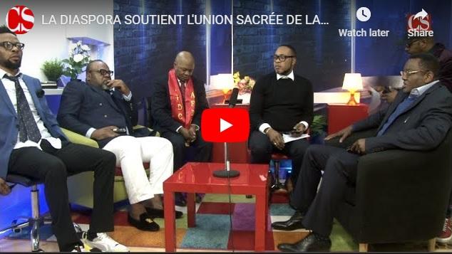 LA DIASPORA SOUTIENT L'UNION SACRÉE DE LA NATION .