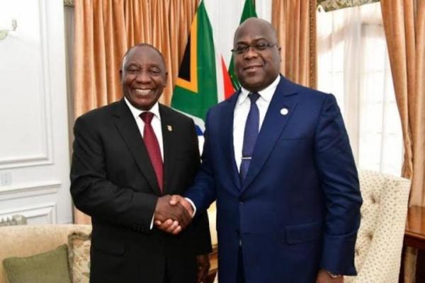 Le Président Félix Tshisekedi en mission d'Etat en Afrique du Sud.