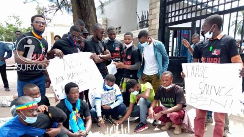 Lubumbashi : La LUCHA et Filimbi ont marché pour réclamer la paix à Beni.