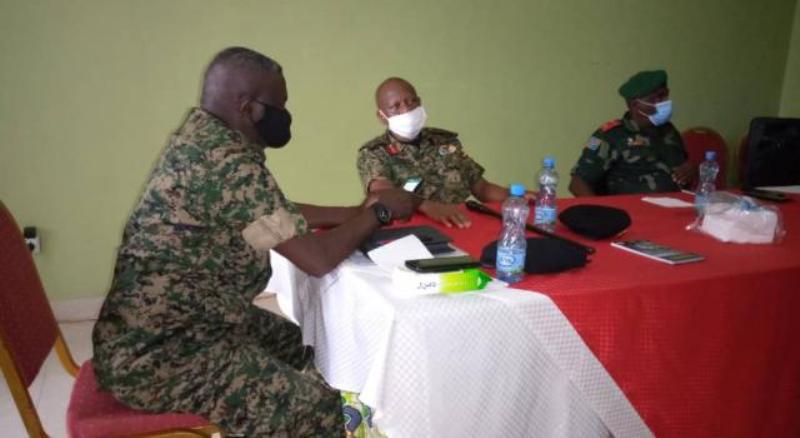 Une délégation de l'armée ougandaise reçue par le Président  Félix  Tshisekedi.