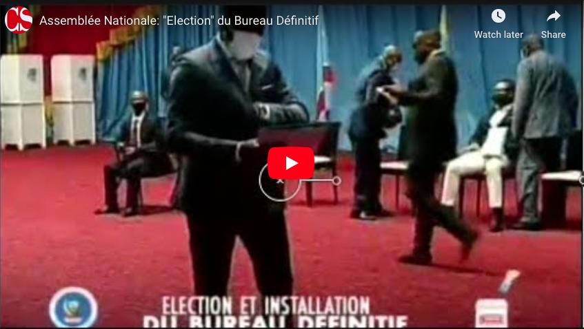 """Assemblée Nationale: """"Election"""" du Bureau Définitif."""