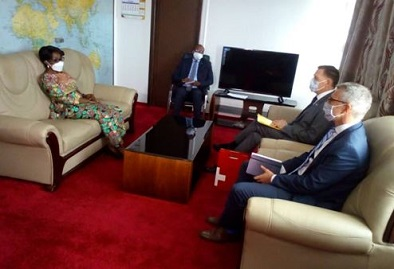La Suisse sollicite le soutien de la RDC à sa candidature au Conseil de sécurité.