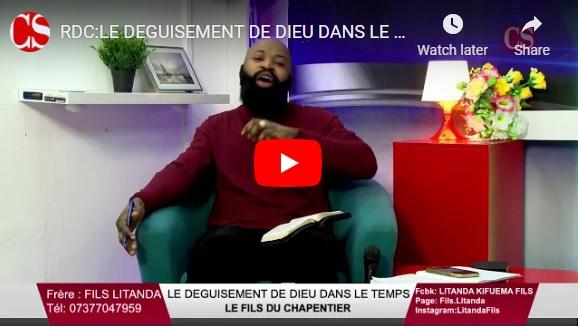 RDC:LE DEGUISEMENT DE DIEU DANS LE TEMPS: LE FILS DU CHAPENTIER .