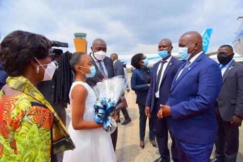 Le Président du Botswana est arrivé à Kinshasa pour une visite de travail avec Félix Tshisekedi