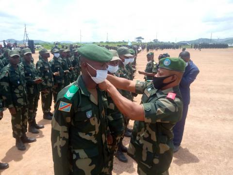 Haut-Katanga : 207 jeunes élevés au rang de sous-officiers de l'armée après 6 mois de formation militaire à Likasi.