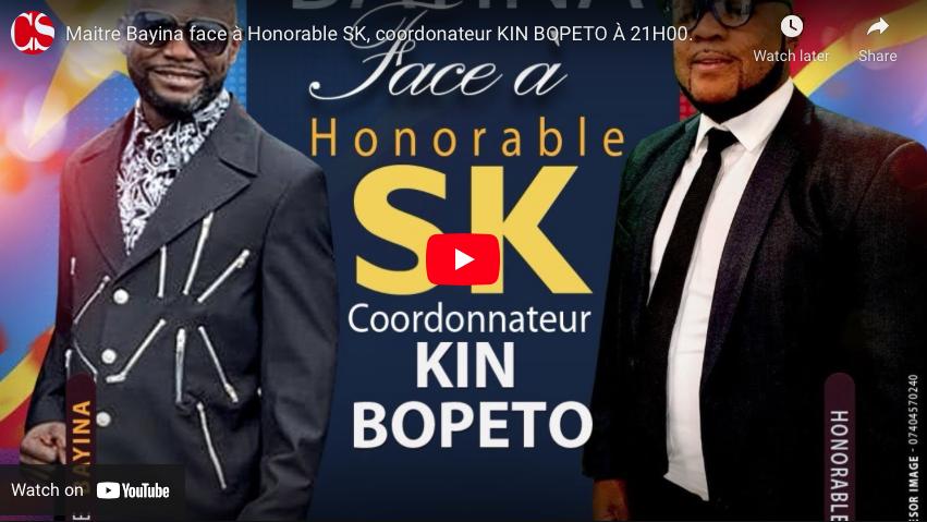 Maitre Bayina face à Honorable SK, coordonateur KIN BOPETO.