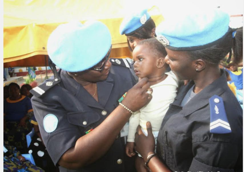 Beni : la Police de la MONUSCO remet des vivres à deux orphelinats.