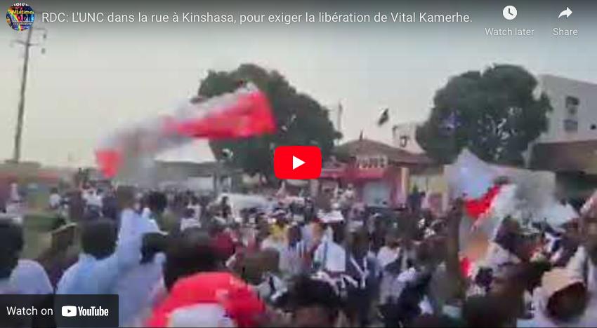 RDC: L'UNC dans la rue à Kinshasa, pour exiger la libération de Vital Kamerhe.