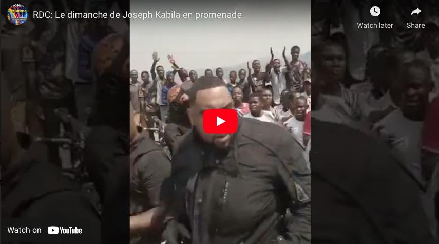 RDC: Le dimanche de Joseph Kabila en promenade.