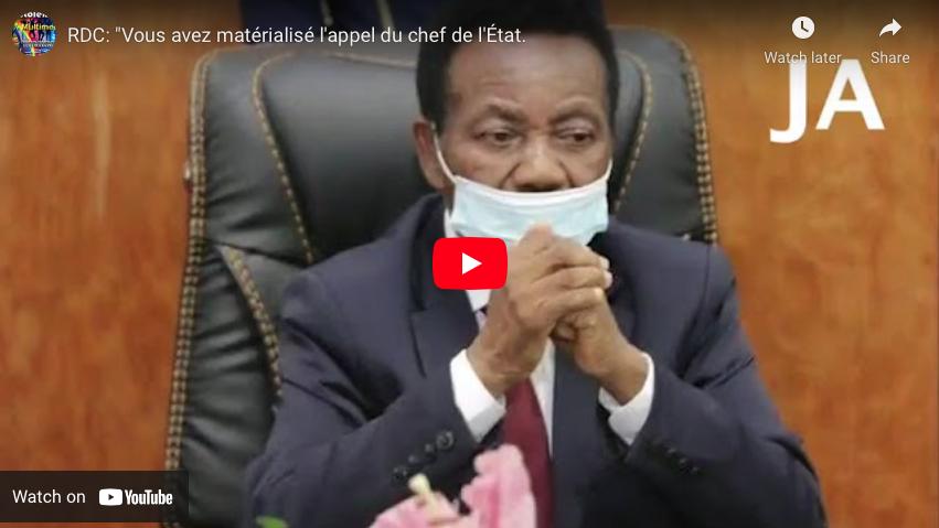 """RDC: """"Vous avez matérialisé l'appel du chef de l'État."""