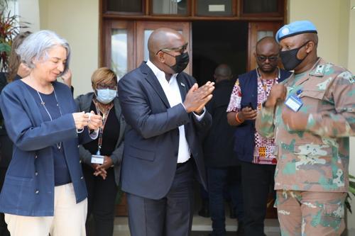 Beni : opérations militaires conjointes et situation humanitaire au centre des échanges entre Sama Lukonde et une équipe de l'ONU.