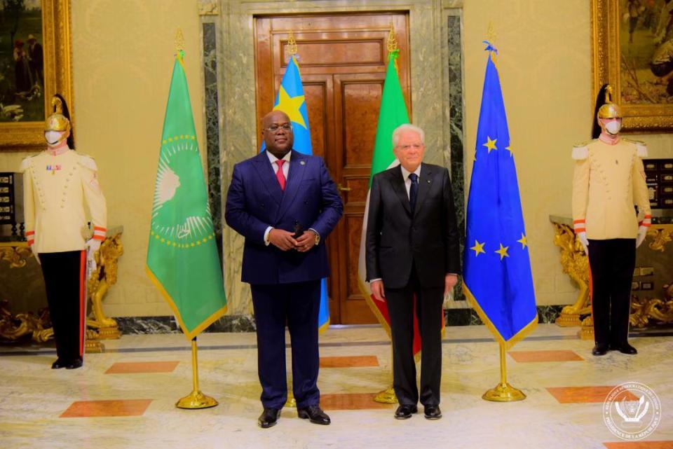 Rencontre Tshisekedi – Mattarella : les relations Kinshasa/Rome au beau fixe.